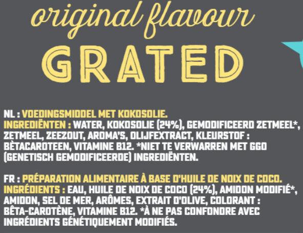 Grated Original Flavour - Ingrediënten - fr