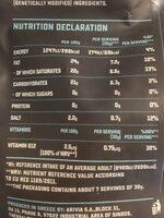 Grated Original Flavour - Nutrition facts - en