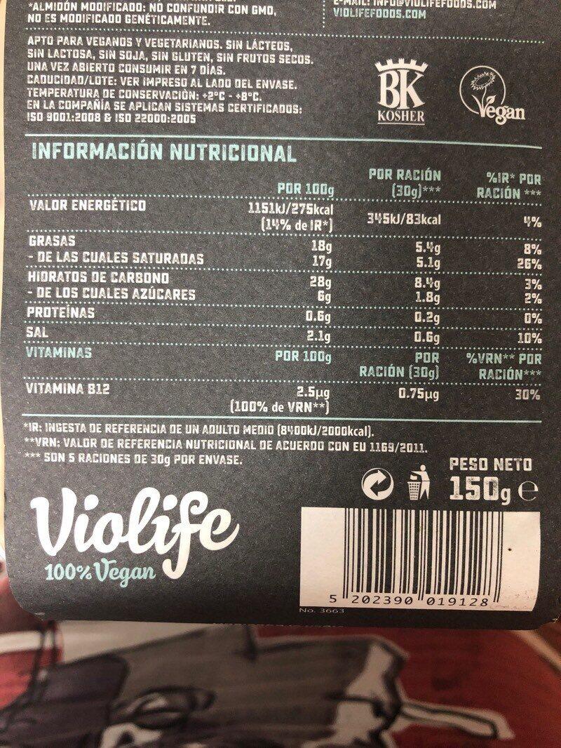 Violife After Dinner Al Mirtillo Rosso Alternativa Al Formaggio - Informations nutritionnelles - fr