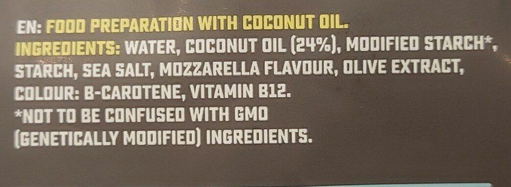 Mozzarella flavour grated - Ingredients - en