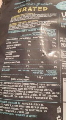 Mozzarella flavour - Informations nutritionnelles - fr
