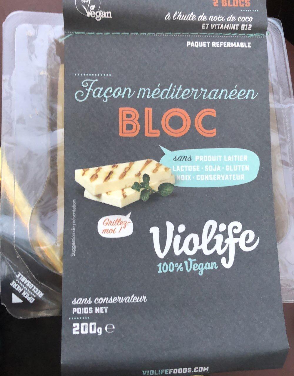 Violife Mediterranean Cheese Alternative Style Block X2 200G - Producte