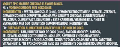 Epic Mature saveur cheddar - Zutaten - fr