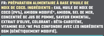 Râpé Violife saveur Emmental - Ingredients - fr