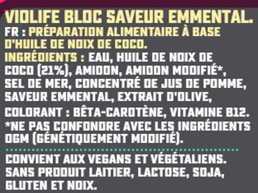 Bloc saveur Emmental - Ingredients - fr