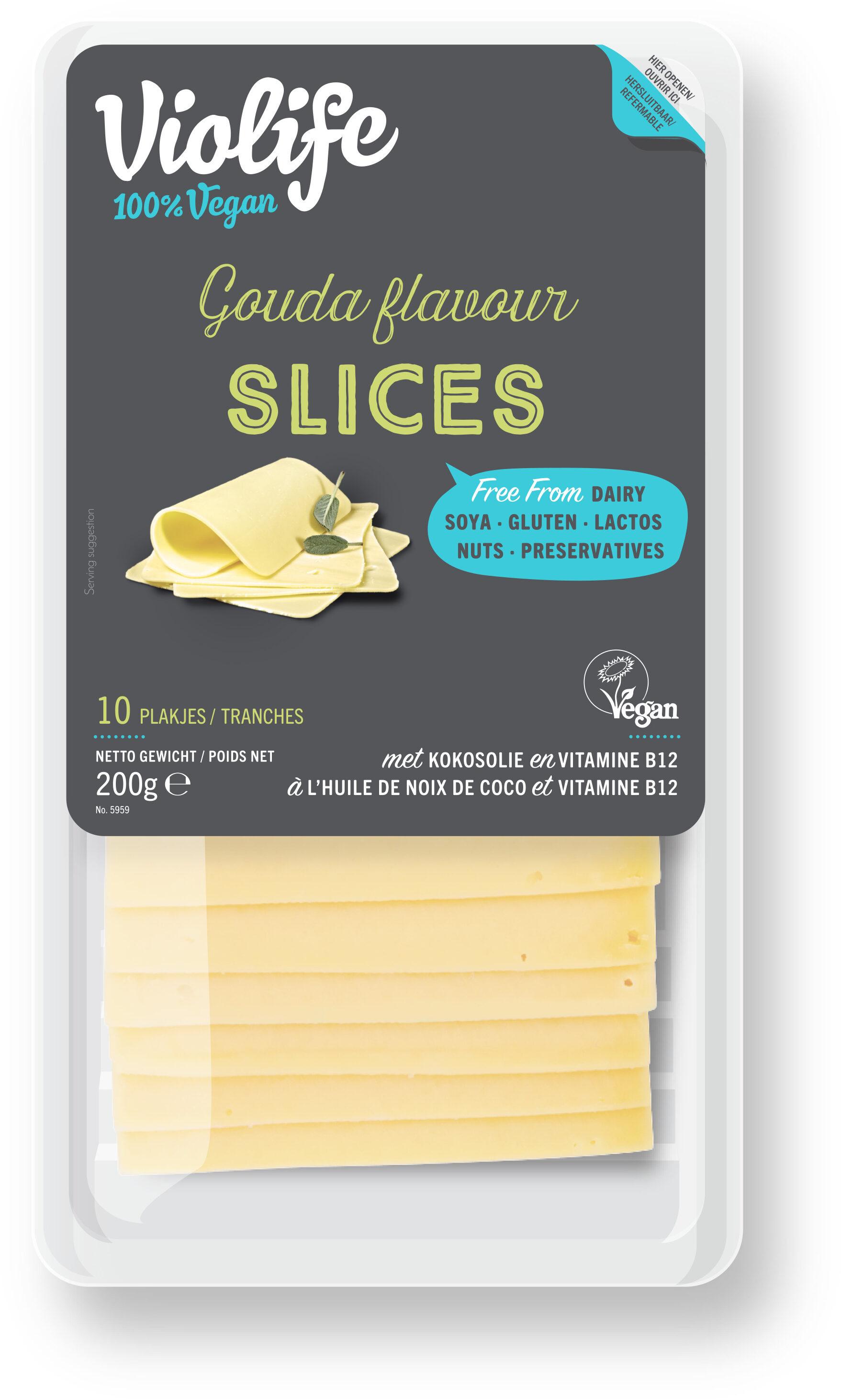 Gouda flavor slices - Product - fr
