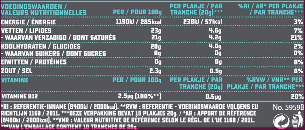 Gouda flavor slices - Nutrition facts - fr