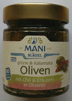 Grüne & Kalamata-Oliven mit Chili & Kräutern - Produkt