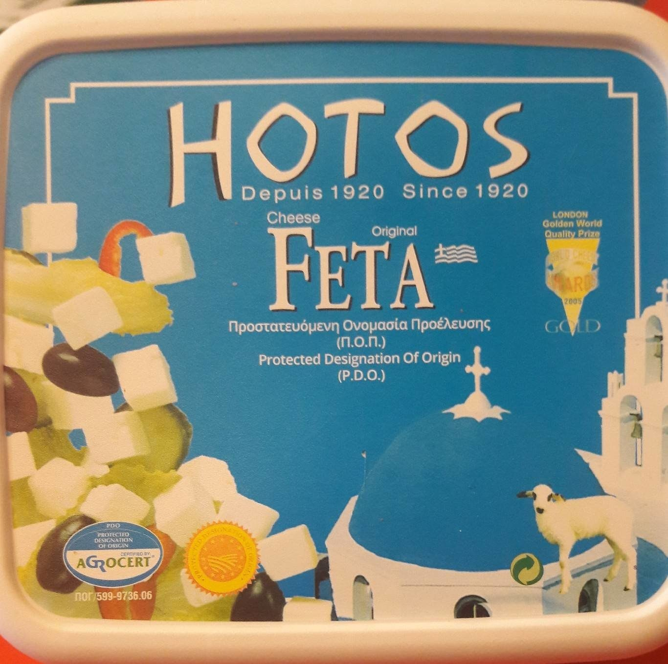 Original Feta Cheese - Informations nutritionnelles - fr