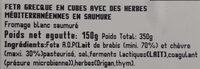 Feta with mediterranean herbs - Ingredients - fr
