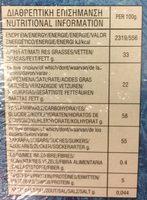 Disney Frozen Xmas Calendar - Informazioni nutrizionali - fr