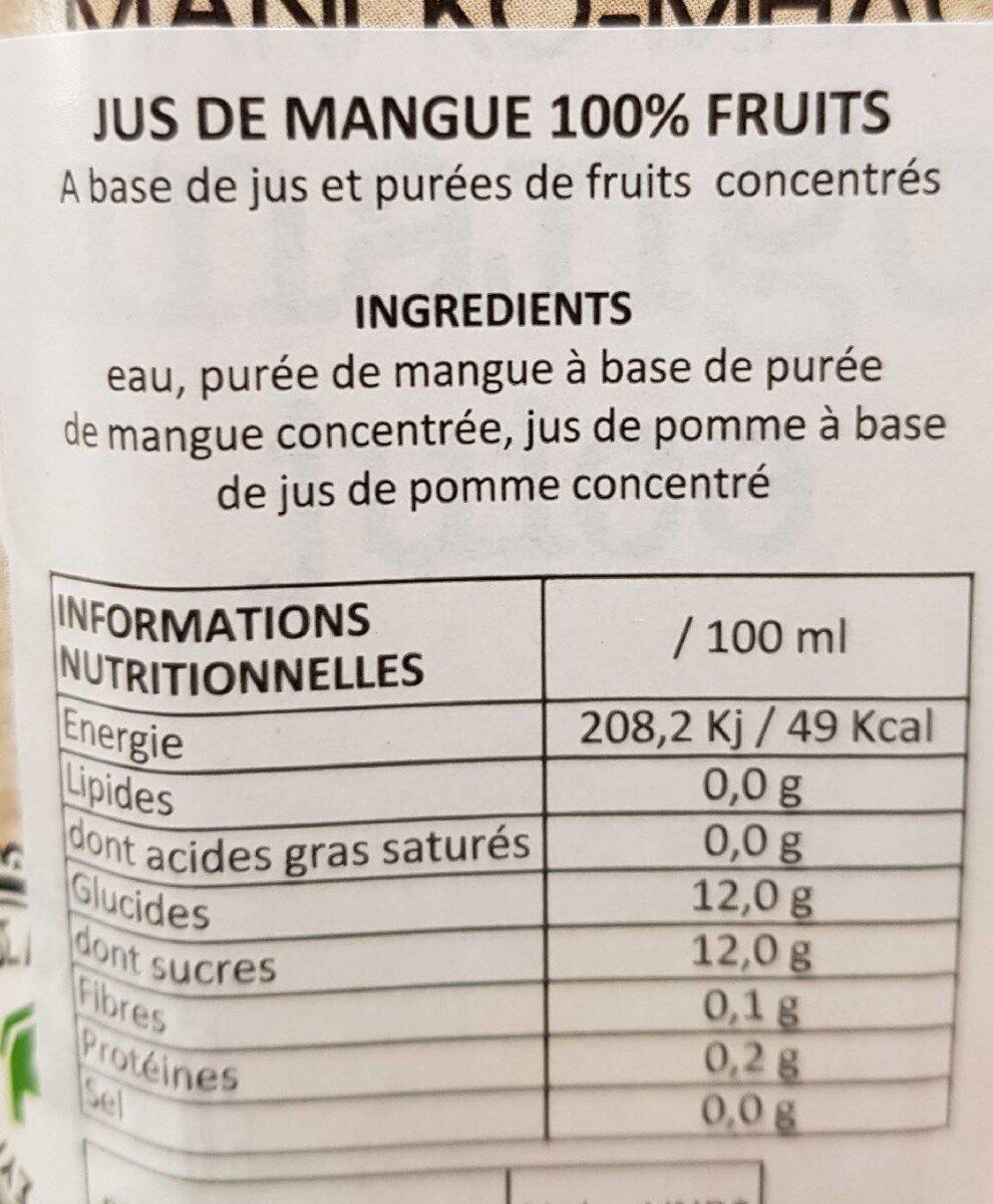 Jus de fruits - Ingredients - fr