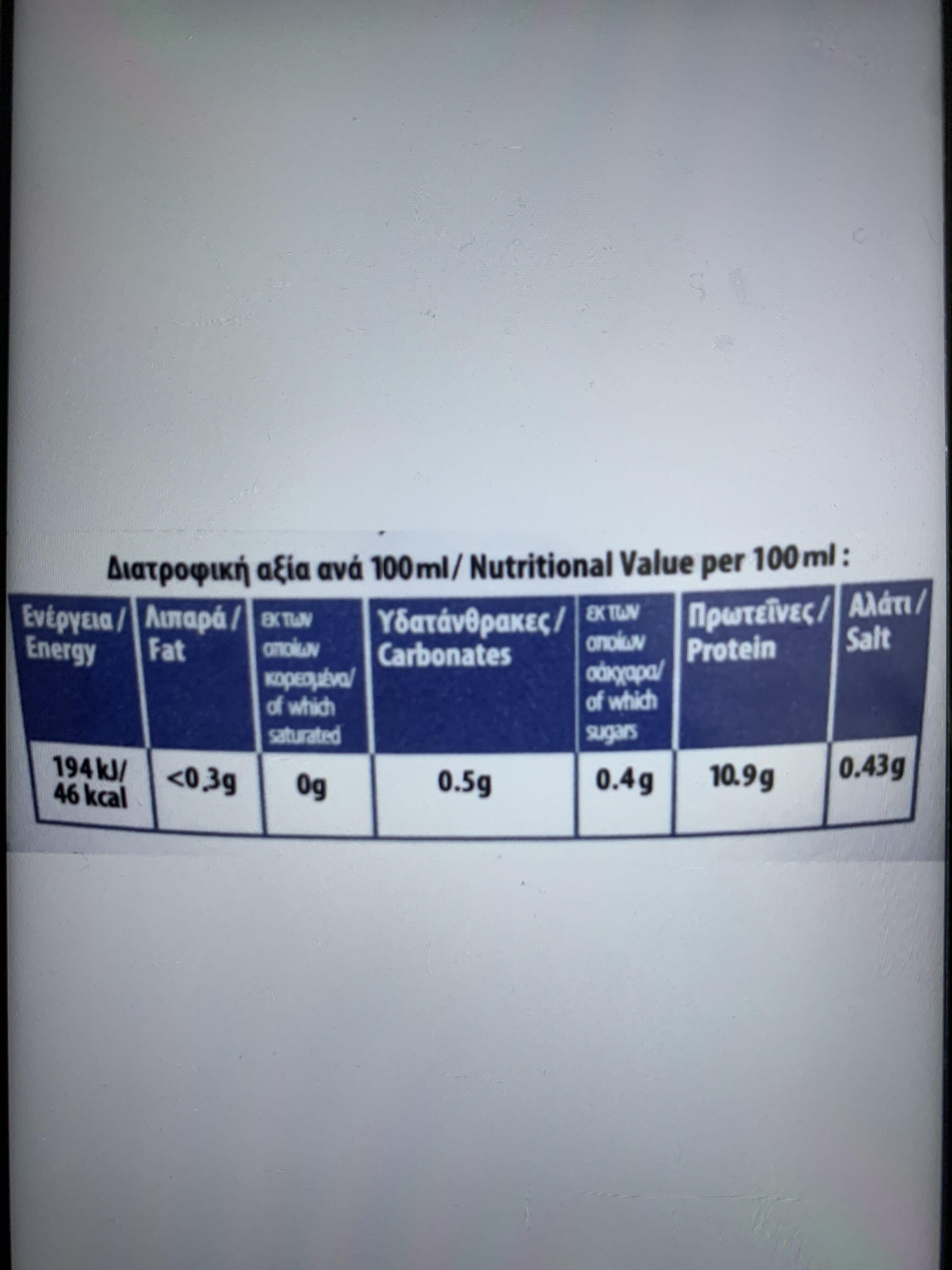 ΑΣΠΡΑΔΙ ΡΟΦΗΜΑ ΣΟΚΟΛΑΤΑ - Nutrition facts - el