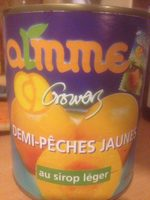 Demi peches jaunes au sirop leger - Produit - fr