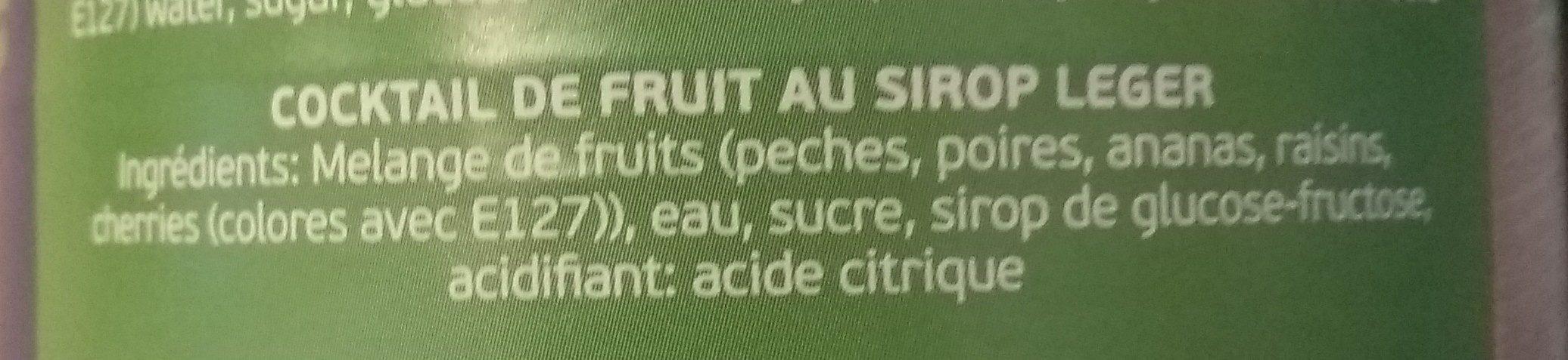 Cocktail de fruit - Ingredients