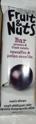 Fruit & Nuts Bar protein & black raisin - Продукт - el