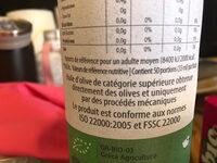 Huile d olive biologique vierge extra crestan's taste - Ingrediënten - fr