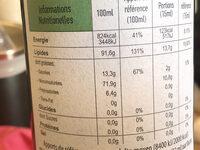 Huile d olive biologique vierge extra crestan's taste - Voedingswaarden - fr