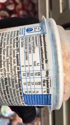 Frisco Yogourt glacé Nature Muesli - Nutrition facts