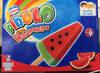 Pirulo Watermelon - Glace à l'eau pastèque (73,9%) et glace à l'eau pomme (25,4%) avec des morceaux au cacao - Product