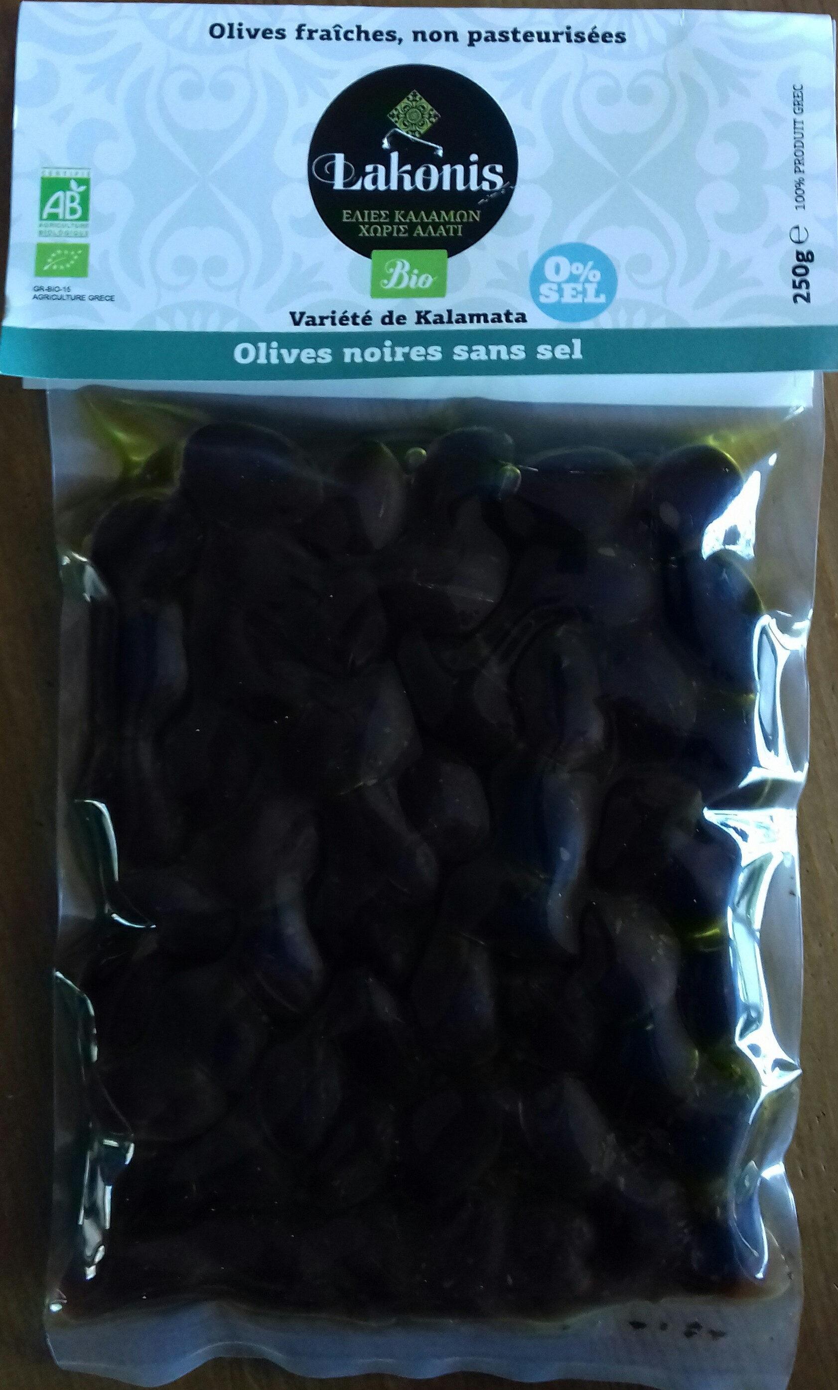 Olives noires sans sel - Product - fr