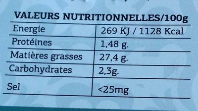 Olives noires sans sel - Nutrition facts - fr