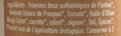 Piperia & fassoli - Ingrediënten - fr