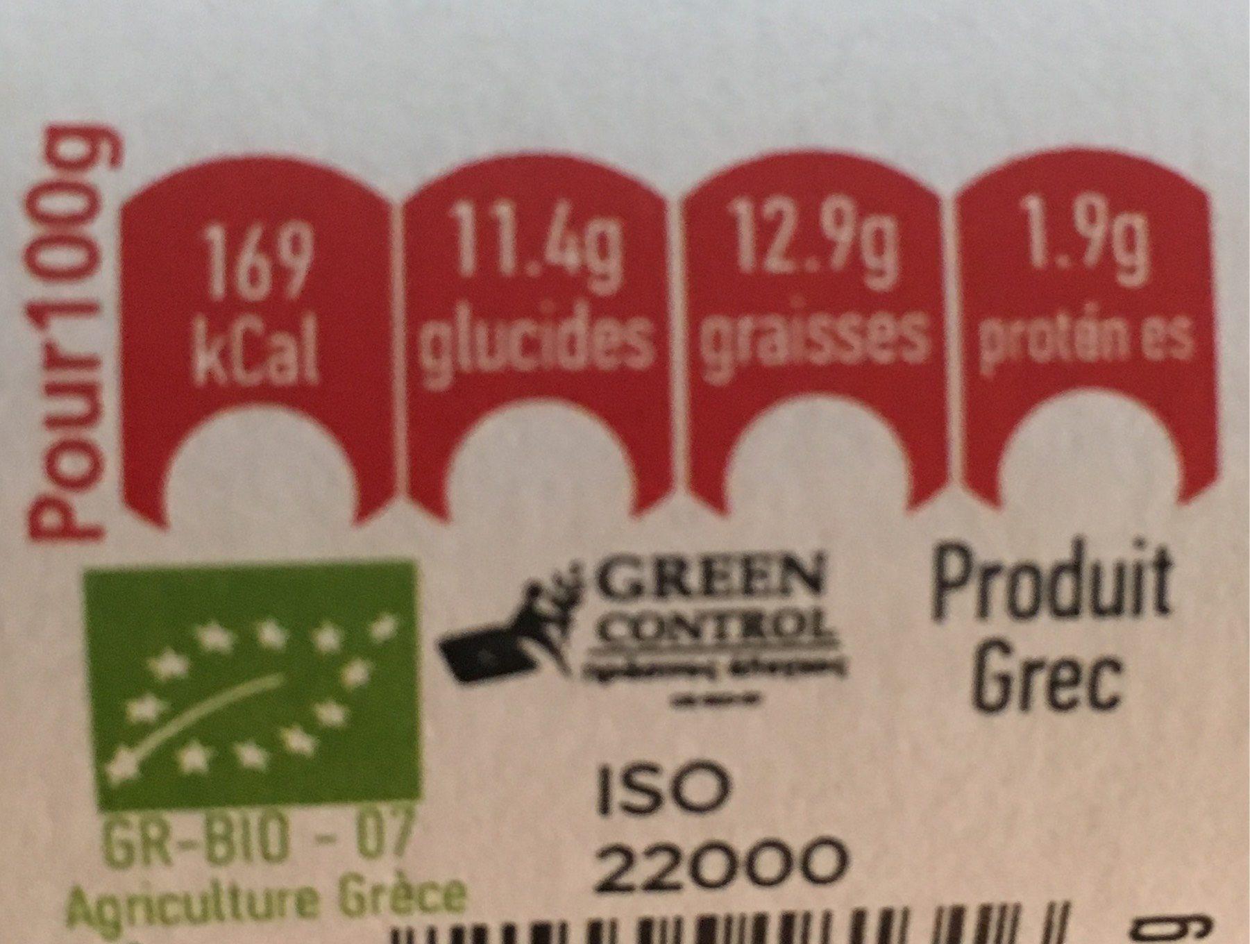 Piperia & fassoli - Voedingswaarden - fr