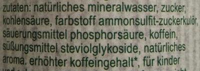 fritz-kola stevia - Inhaltsstoffe