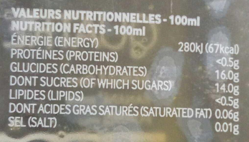 Quatre - Informations nutritionnelles - fr