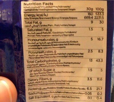 Castania Kari Kari Peanuts - حقائق غذائية