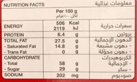 Digestives Chocolate - حقائق غذائية - fr