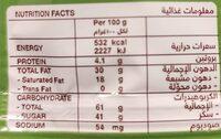 Unica - Hazelnut - حقائق غذائية - fr