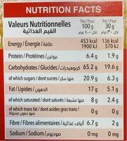 Granolies Strawberry Cheesecake - حقائق غذائية - fr