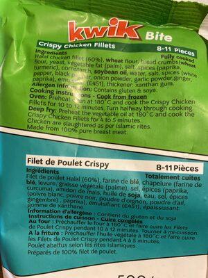 Crispy chicken filet - المكونات
