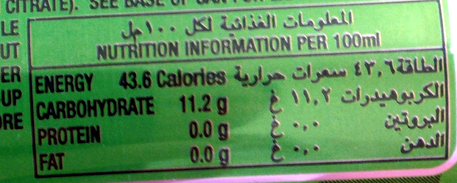7up - Nutrition facts