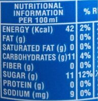 Pepsi - حقائق غذائية - fr