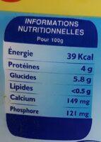 Laban 0% de matiere grasse - حقائق غذائية - fr