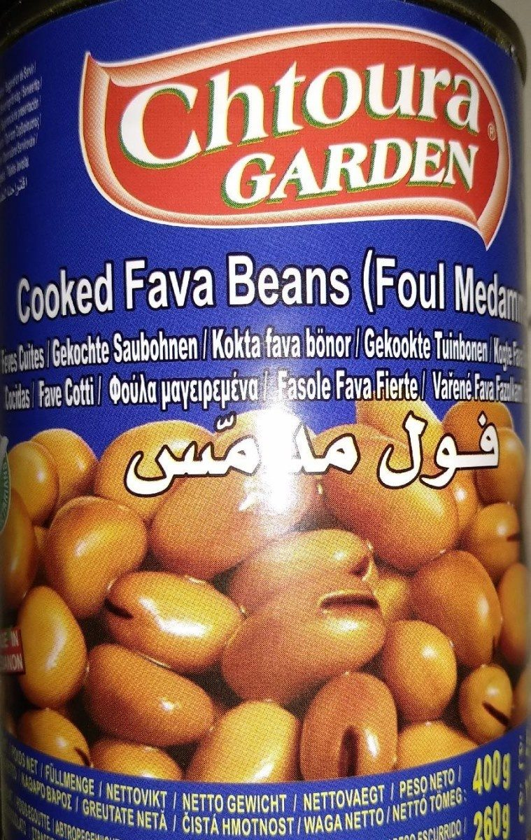 Cooked Fava Beans (foul Medammas) - Informations nutritionnelles