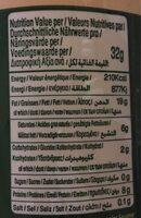 Tahina - Informació nutricional - fr