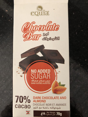 Dark chocolate and almond bar - Produit