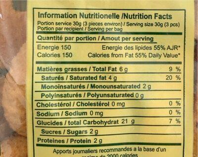 Kaaks à l'anis - حقائق غذائية
