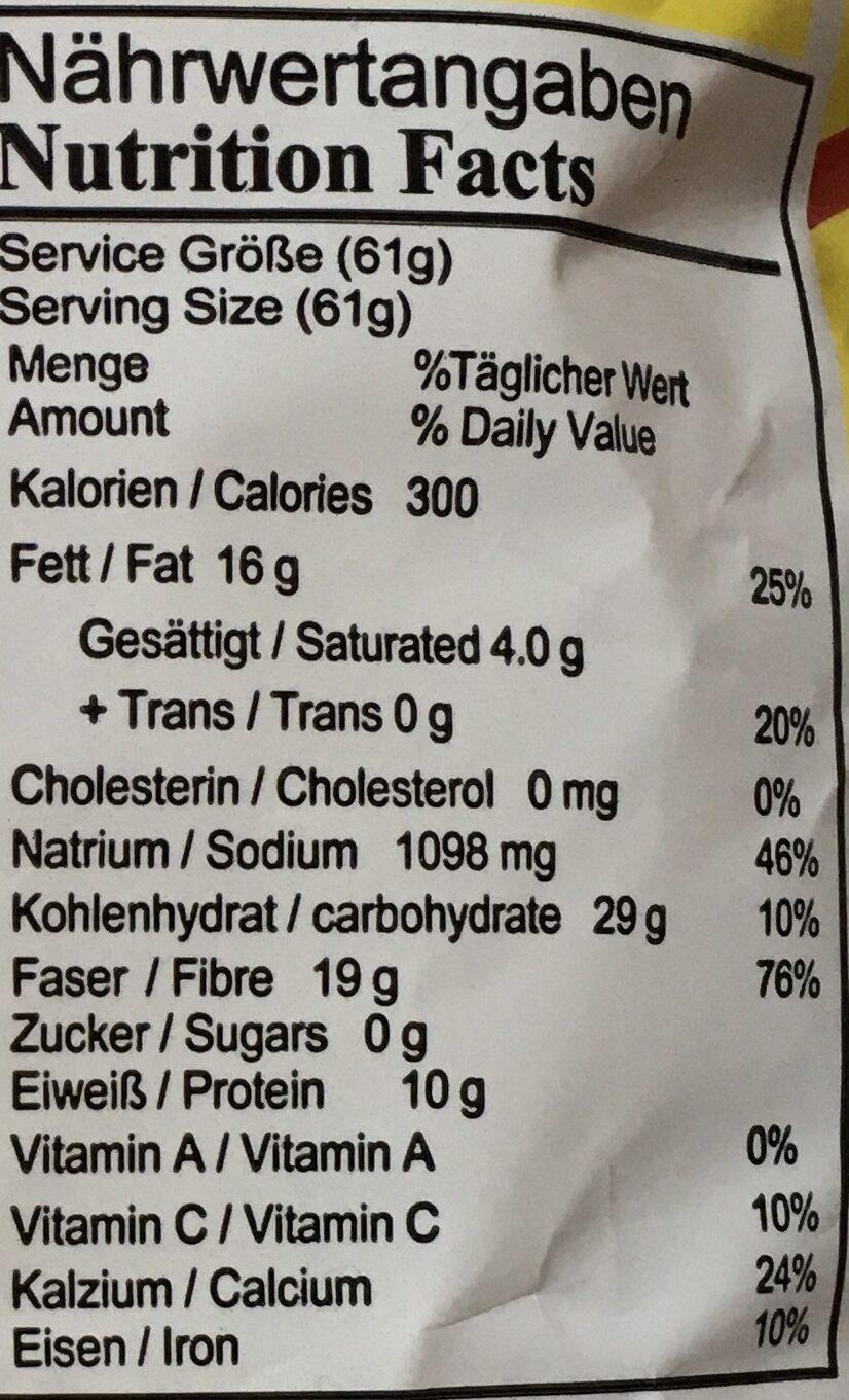 Kleine Melonensamen, geröstet und gesalzen - Voedingswaarden - de