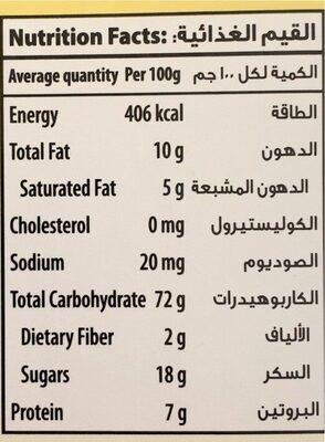 Golden Marie Biscuits - حقائق غذائية