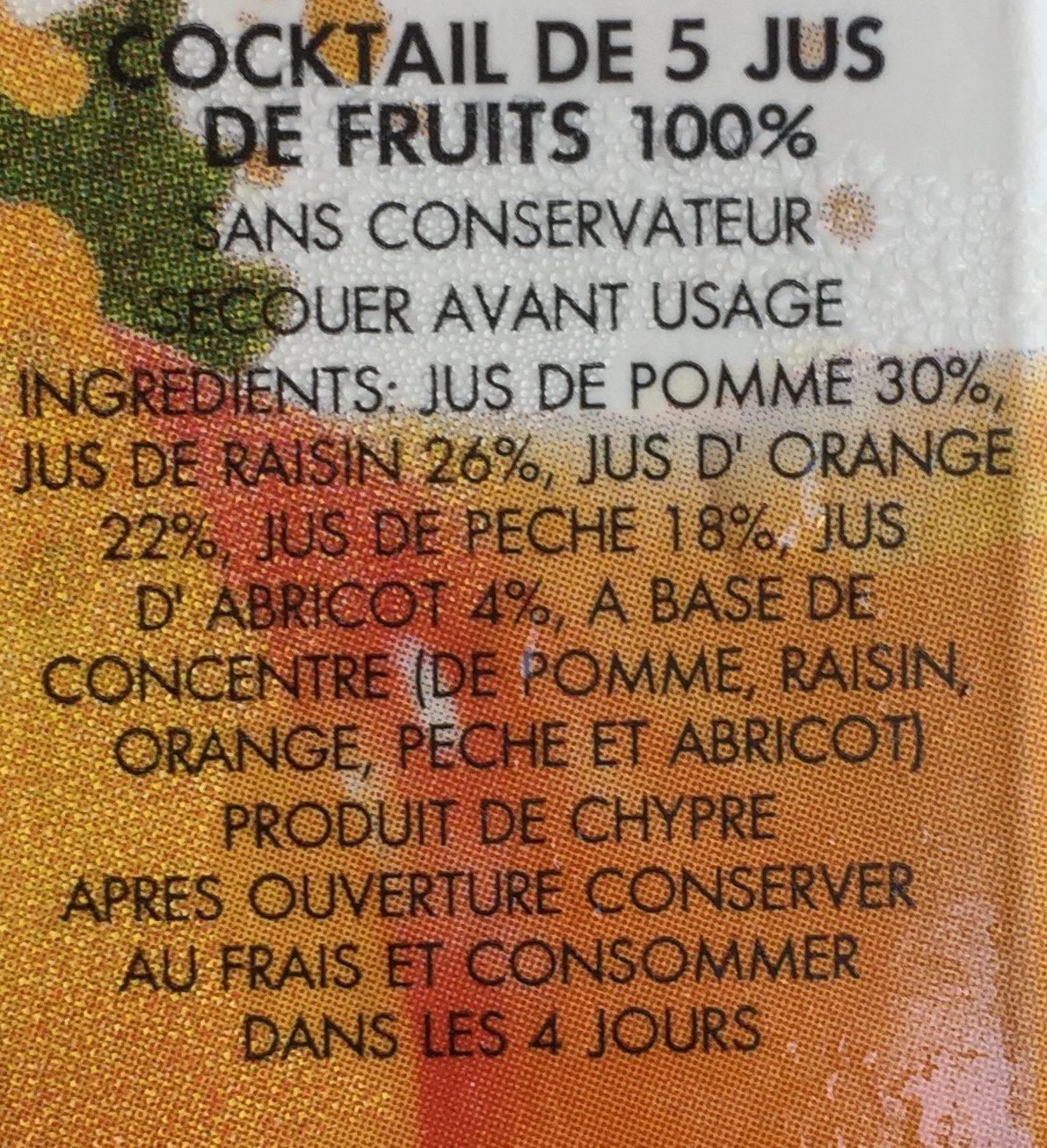 5 Fruit - គ្រឿងផ្សំ - en