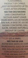 Grape Nectar - Ingrédients