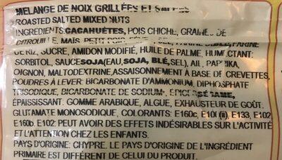 Mélange de noix grillées - Ingrédients