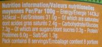 Houmous prestige - Informations nutritionnelles - fr