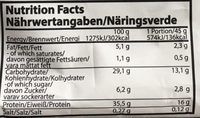 Protein Pancake Creamy Chocolat Filling - Informations nutritionnelles - fr