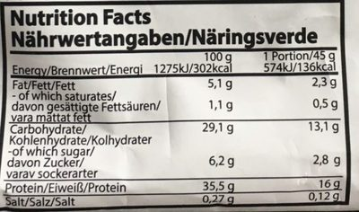 Protein Pancake Creamy Chocolat Filling - Informations nutritionnelles